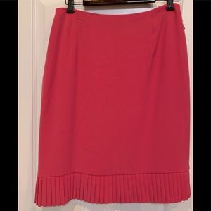 Alfani Woman Pleated Hem Skirt Dark Pink 14W NWOT
